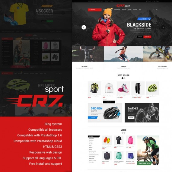 Cr7 - Sport Store PrestaShop Theme