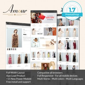 Amour Fashion Prestashop 1.7 Theme