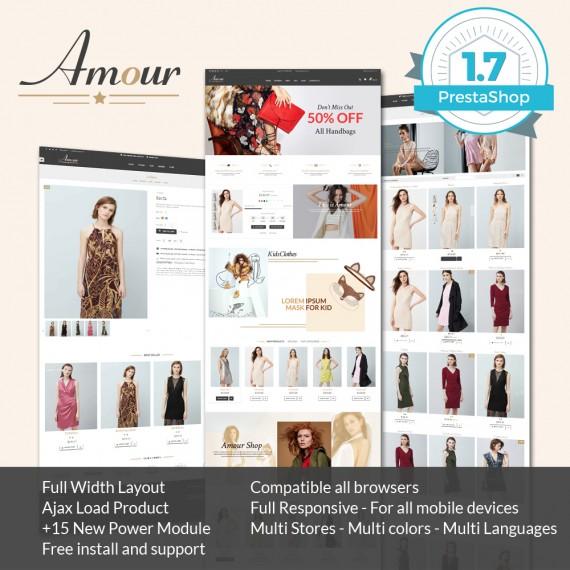 Amour Fashion  Prestashop 1.7 Theme