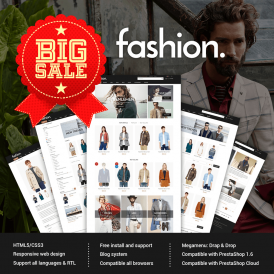 Water Fashion Style Free Prestashop Theme