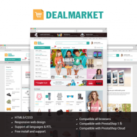 DealMarket - Fashion Store Responsive PrestaShop Theme