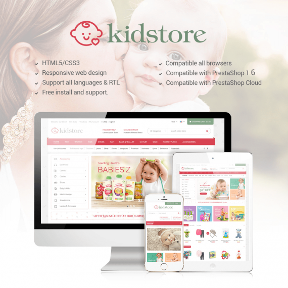 Kids Store PrestaShop Theme