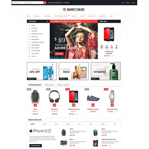 Market Online Prestashop Theme