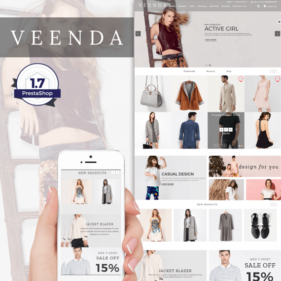 Veenda Fashion Prestashop Theme
