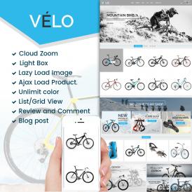 VeLo Bike Sport Store Prestashop 1.7 Theme