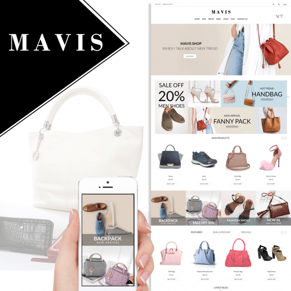 Mavis Bag Shoes Fashion Prestashop Theme