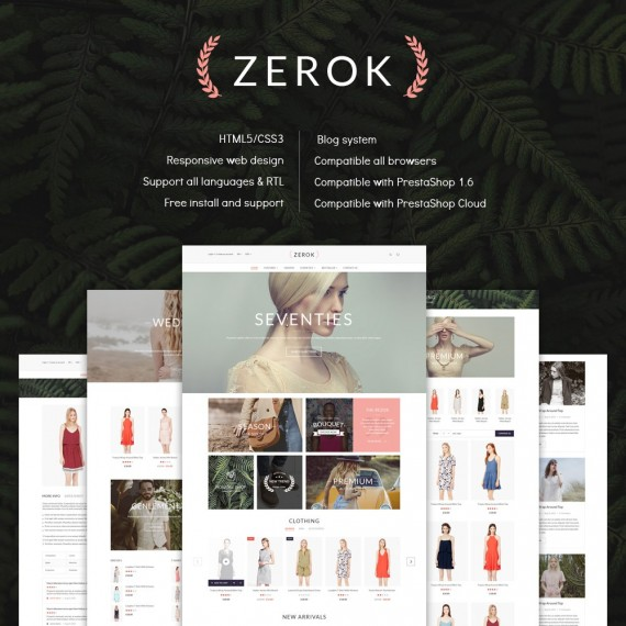 Zerok Fashion Store PrestaShop Theme